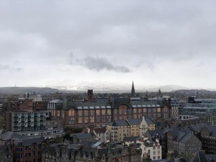 Edinburgh, UK as seen from Edinburgh Castle